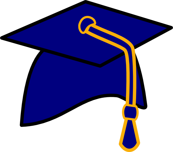 vector royalty free library blue graduation cap clipart
