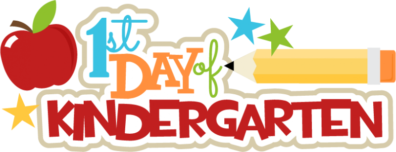 image black and white library First Day Of Kindergarten Clipart at GetDrawings