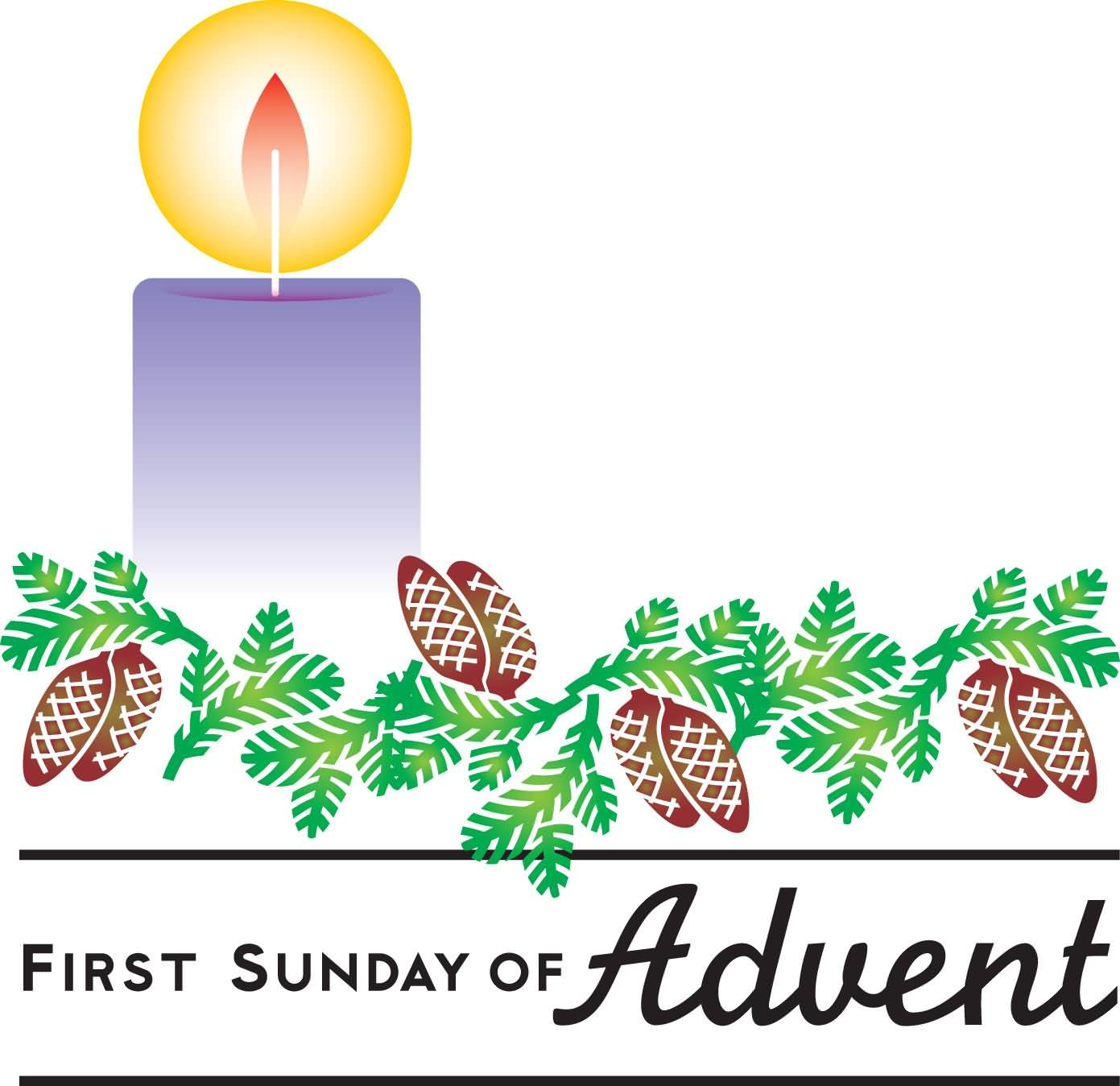 clip transparent download Advent candle . First sunday of clipart