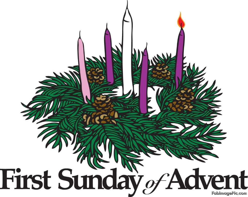 royalty free First sunday of clipart. Free advent wreath cliparts
