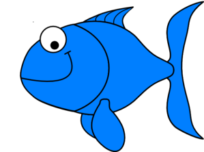 jpg stock Fish clipart. Cute blue