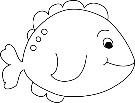 clip freeuse library Black and white little. Fish clipart