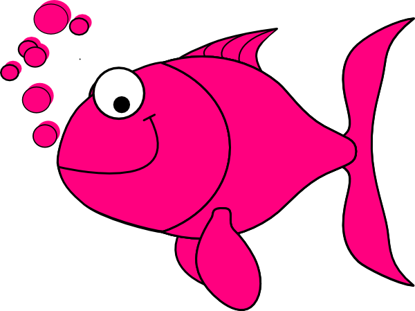 free stock Pink Fish Clip Art at Clker