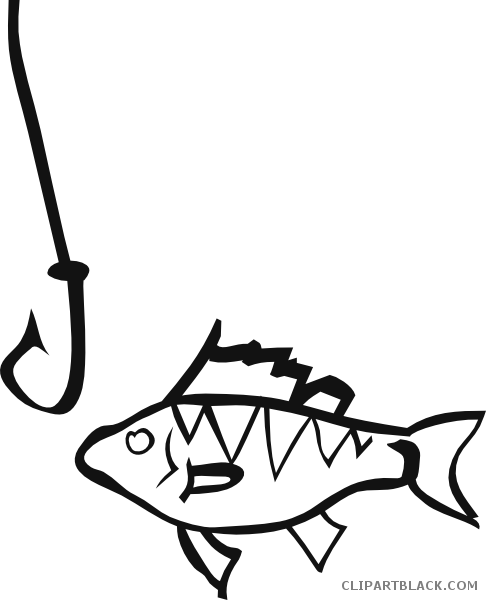 clipart black and white Tools free images clipartblack. Fish hook clipart black and white