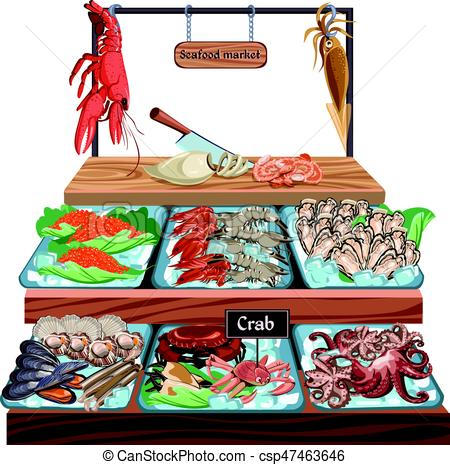 png freeuse library Fish market clipart. Portal