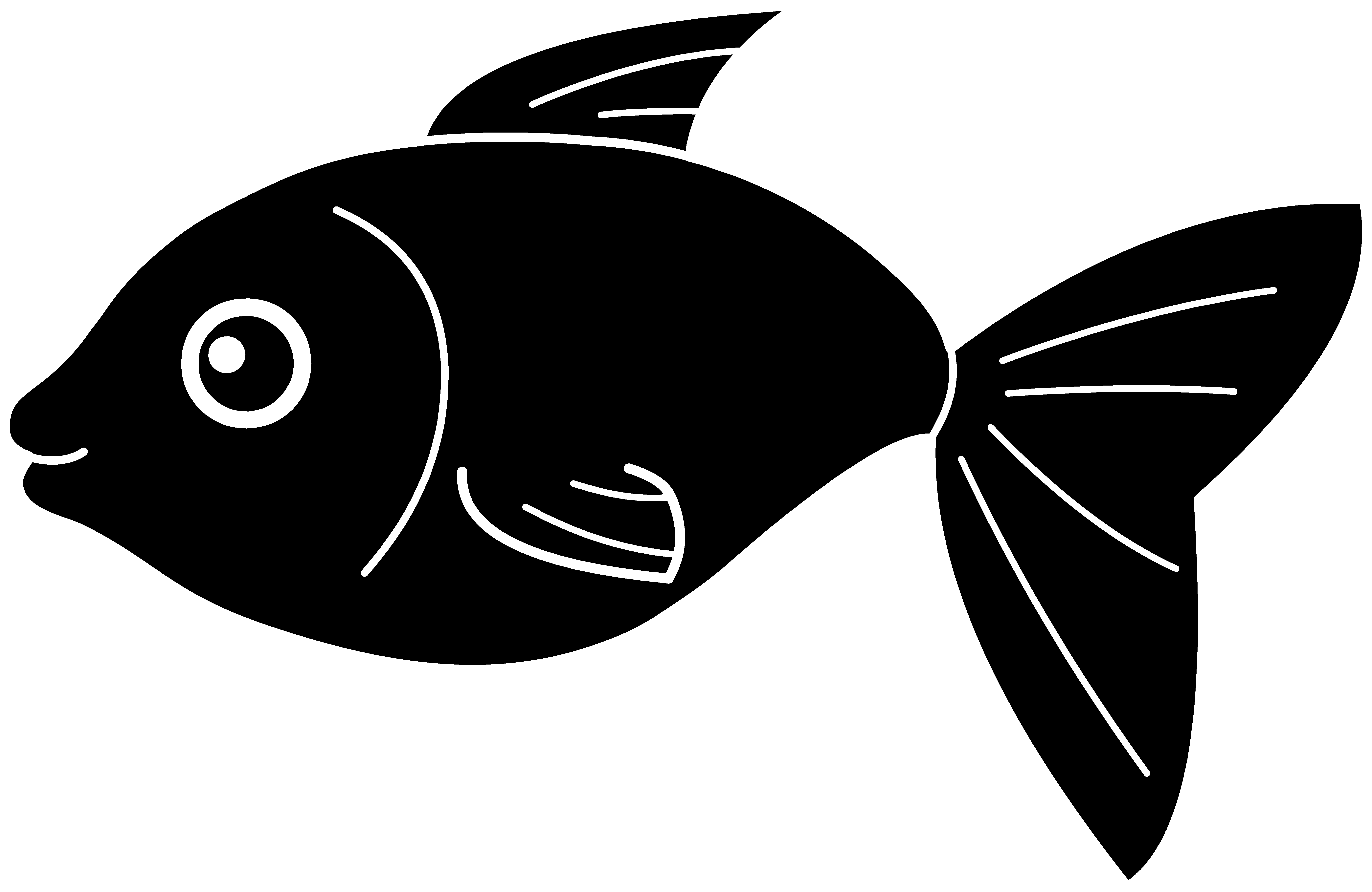 graphic library Fish silhouette free clip. Laureles vector black and white.