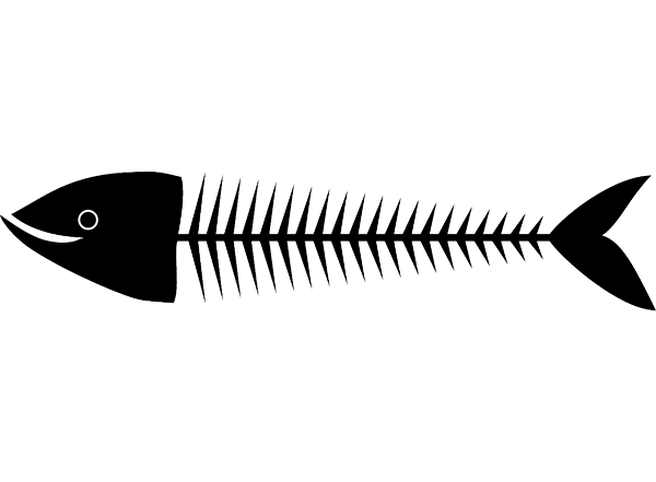 svg free download Fishbone drawing. Diagram steps to better