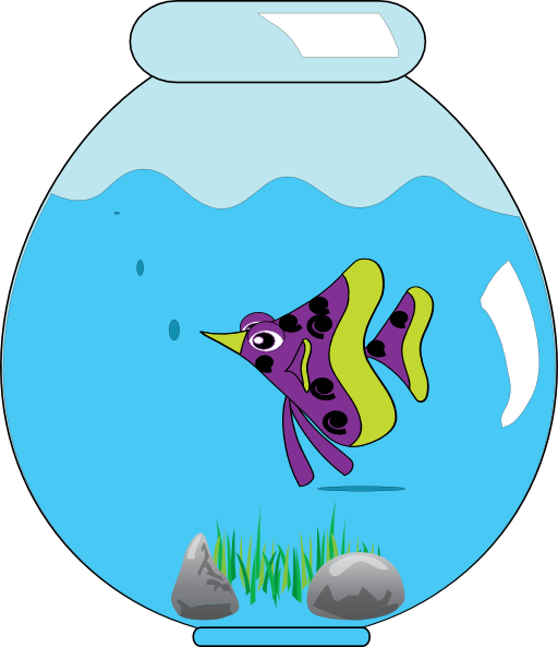 image download Fishbowl clipart. In clip art fish