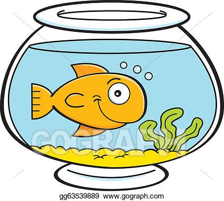 clipart freeuse Vector art cartoon fish. Fishbowl clipart fishing