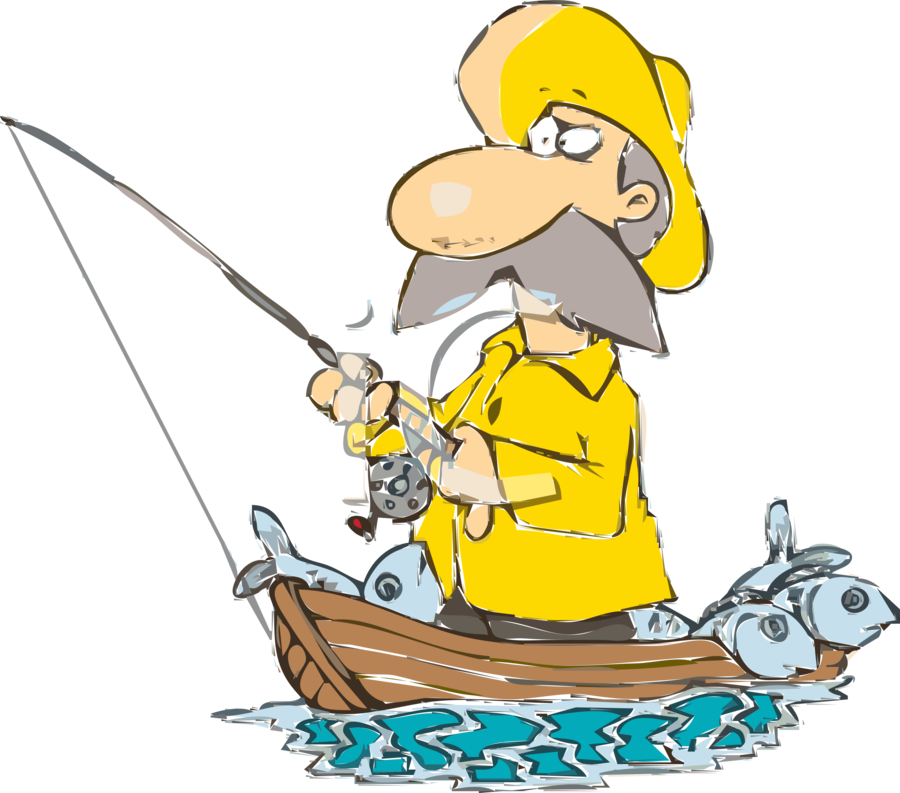 clipart freeuse library Cartoon background fishing yellow. Fisherman clipart.