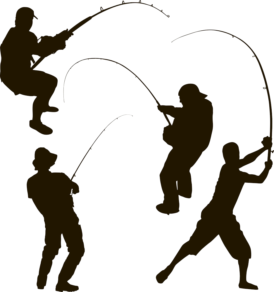 clip art library download Fisherman clipart. Silhouette of at getdrawings.