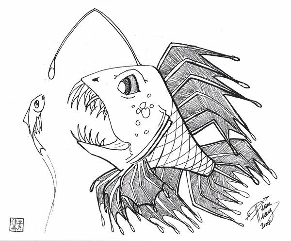 clip art freeuse download Draw a Scary Fish by Diana