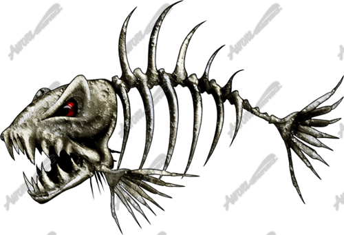 graphic freeuse Skeleton Fish Drawing at GetDrawings