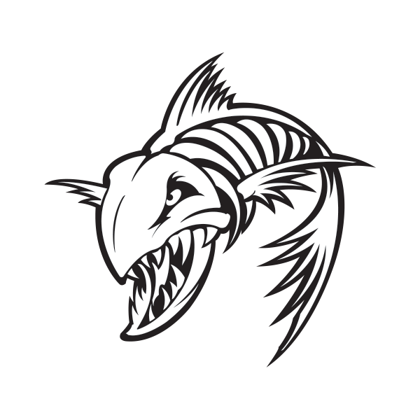 svg transparent Skeleton Fish Drawing at GetDrawings