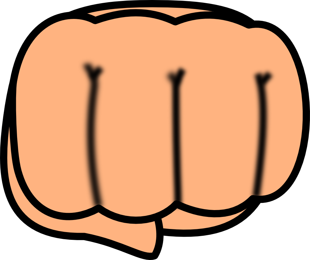 clip art transparent Onlinelabels clip art chibi. Fist clipart