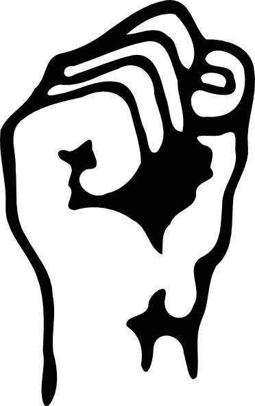 clip free library A Raised Fist Clip Art at Clker