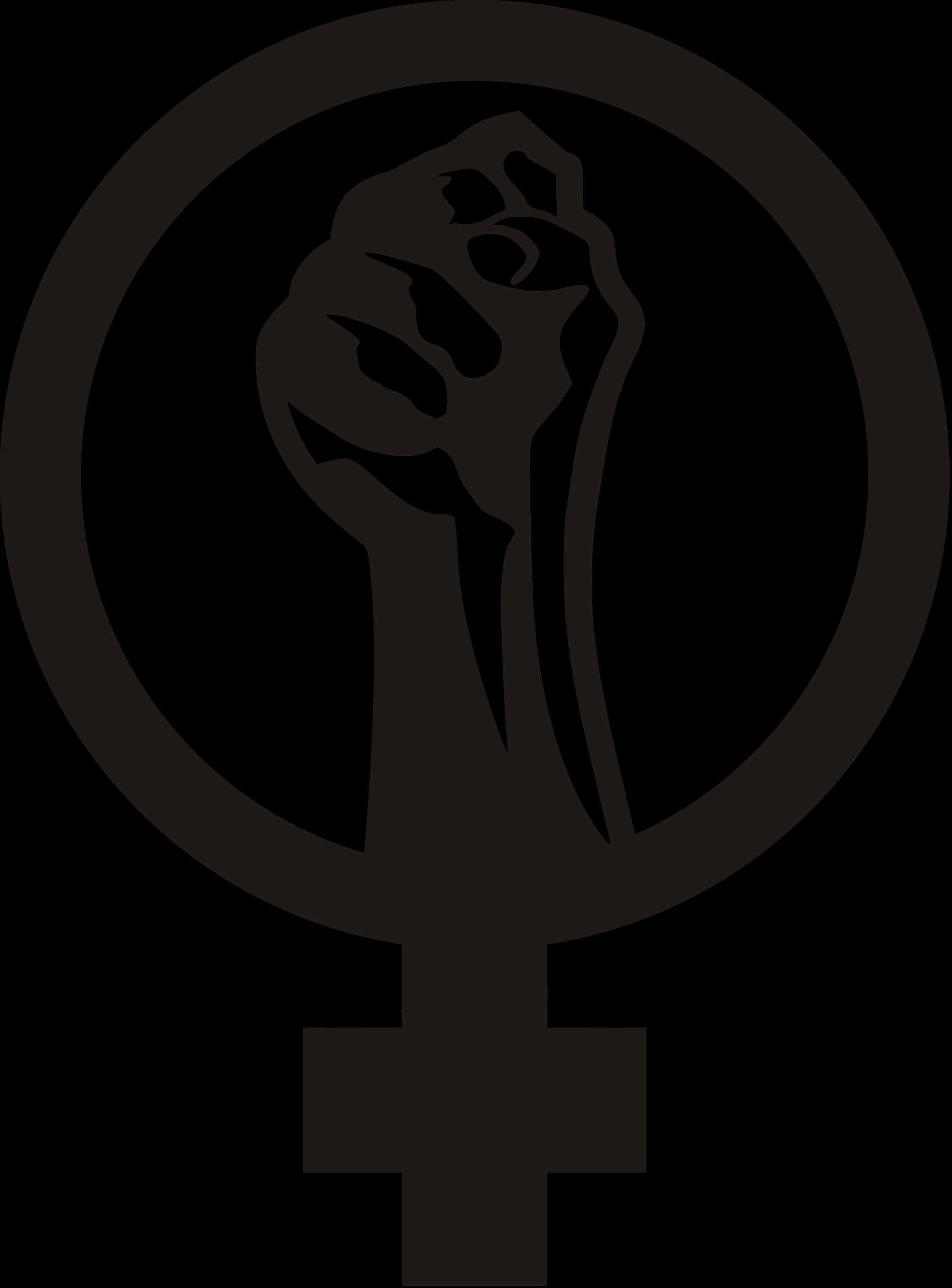 banner black and white vector fist feminist #107838444