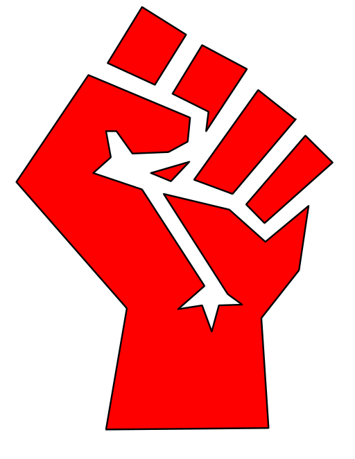 clipart free stock vector fist socialism #107838583