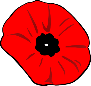 banner library Poppy Remembrance Day Clip Art