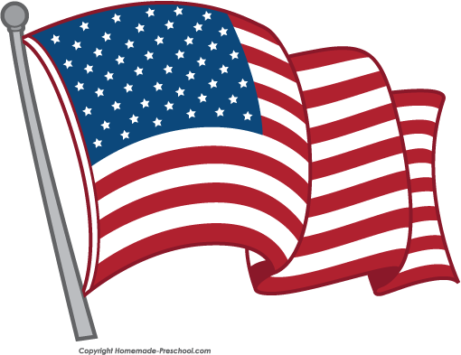 clipart black and white download Flag clipart. Free american flags