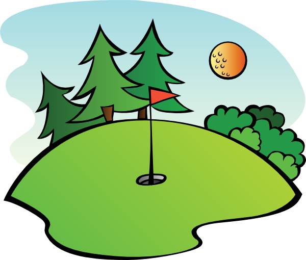 image black and white stock Free cartoon golf clip. Yes clipart advantageous