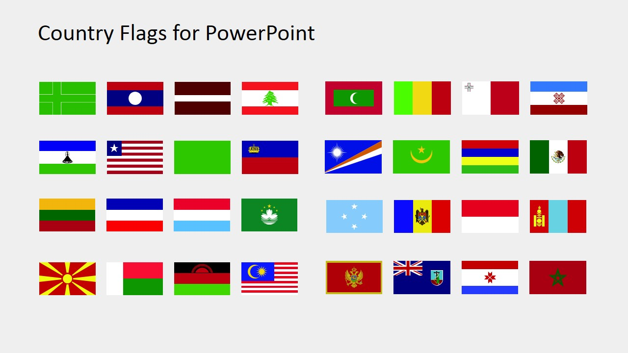 clip library Flags clipart. Country for powerpoint l.