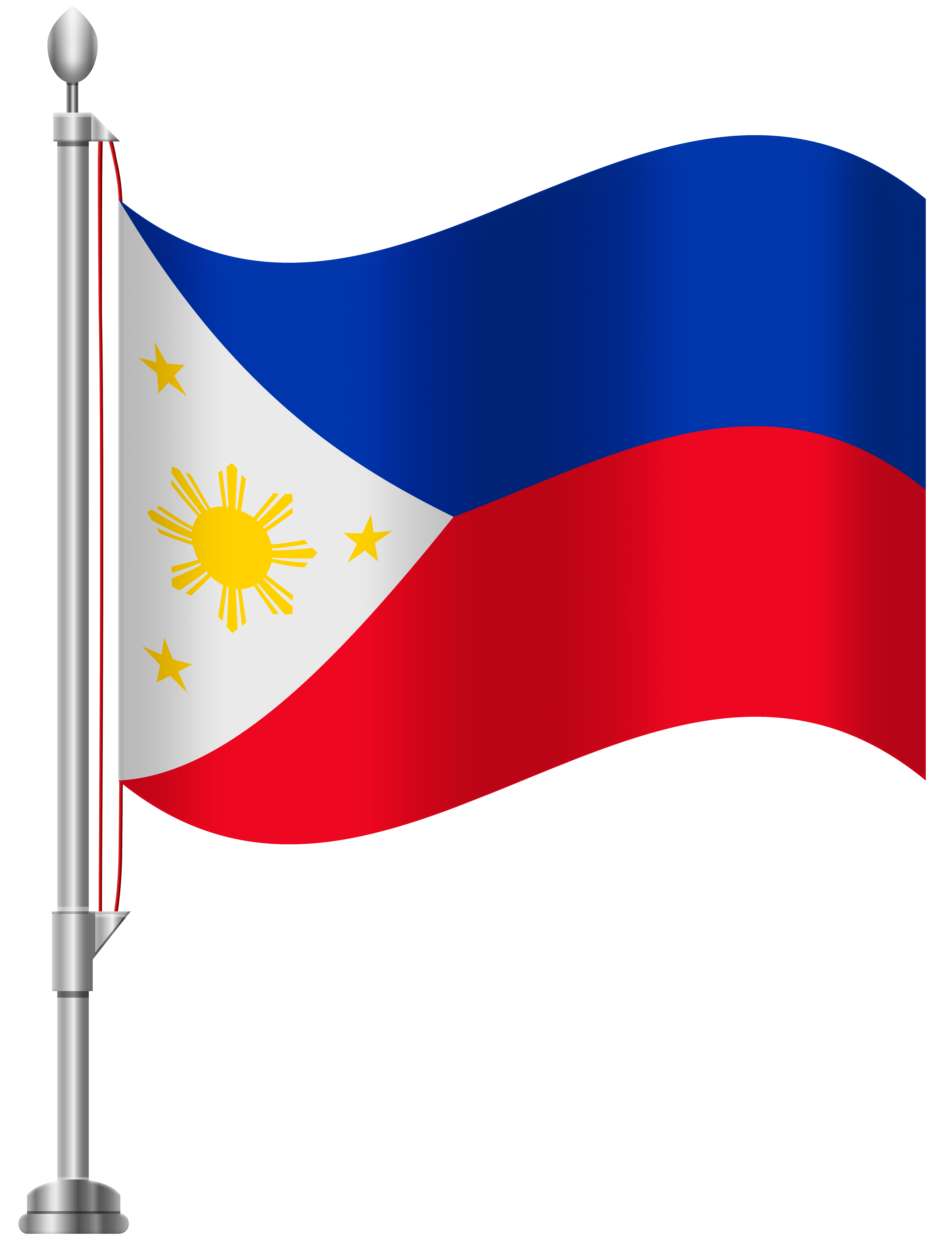 png royalty free library Philippines flag png clip. Flags clipart