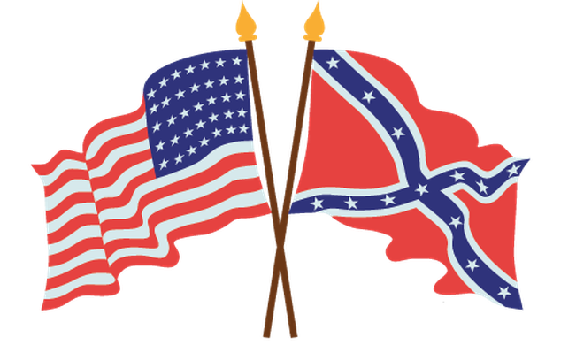 image transparent stock Flags clipart. American civil war the.