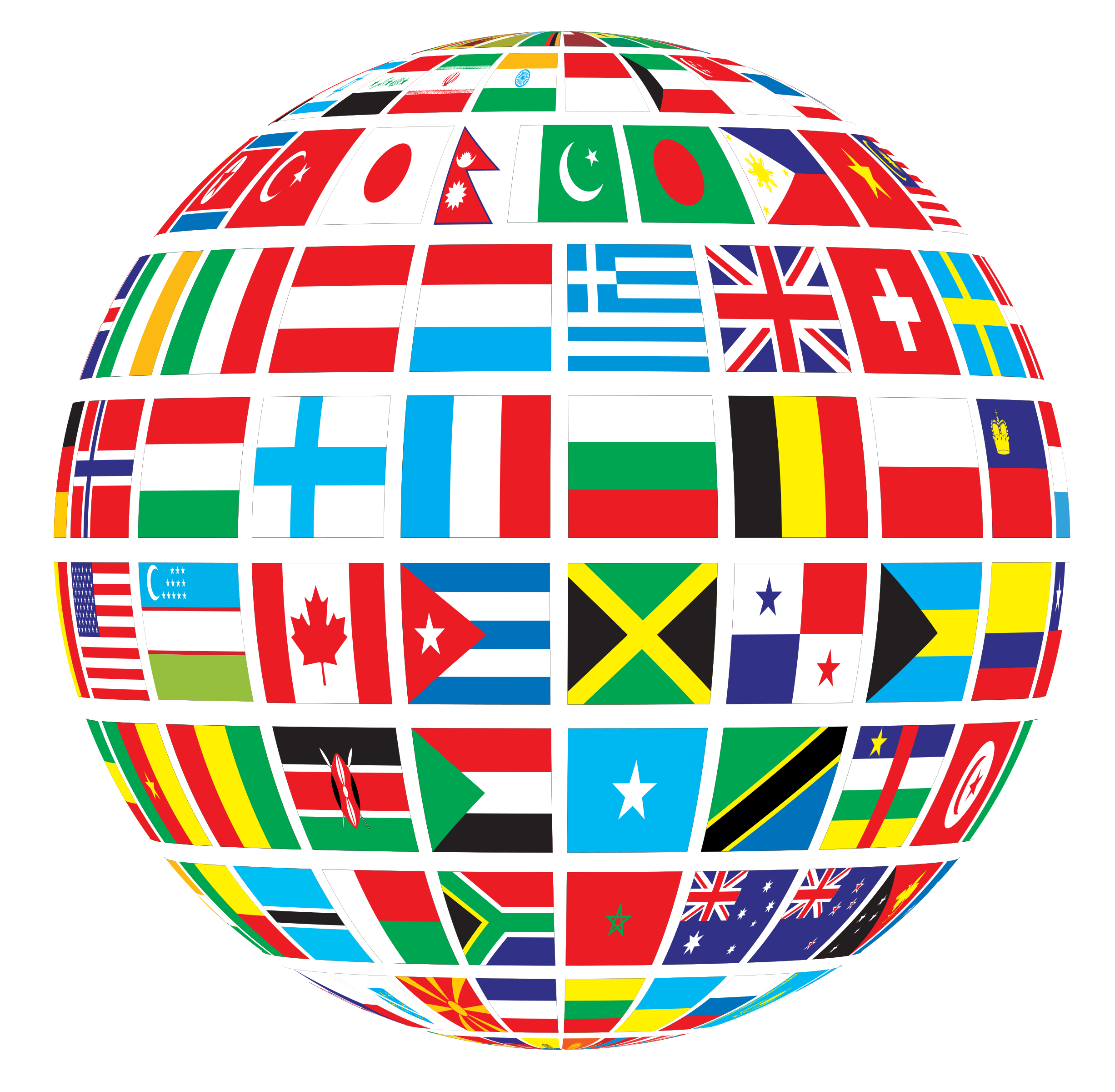 vector library library Mission clipart international flag. World flags globe by.
