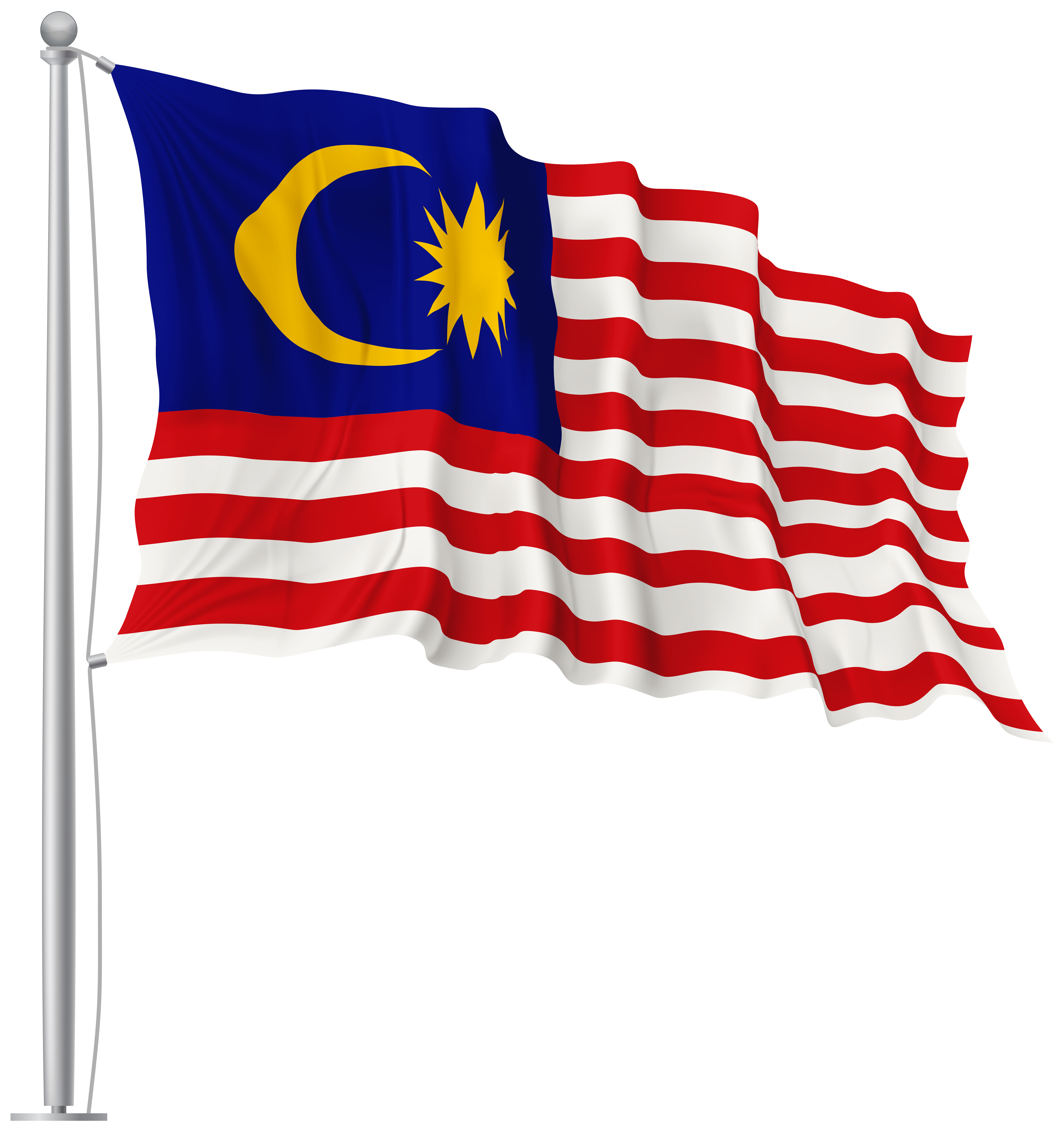 freeuse library Malaysia waving flag png. Flags clipart transparent background.
