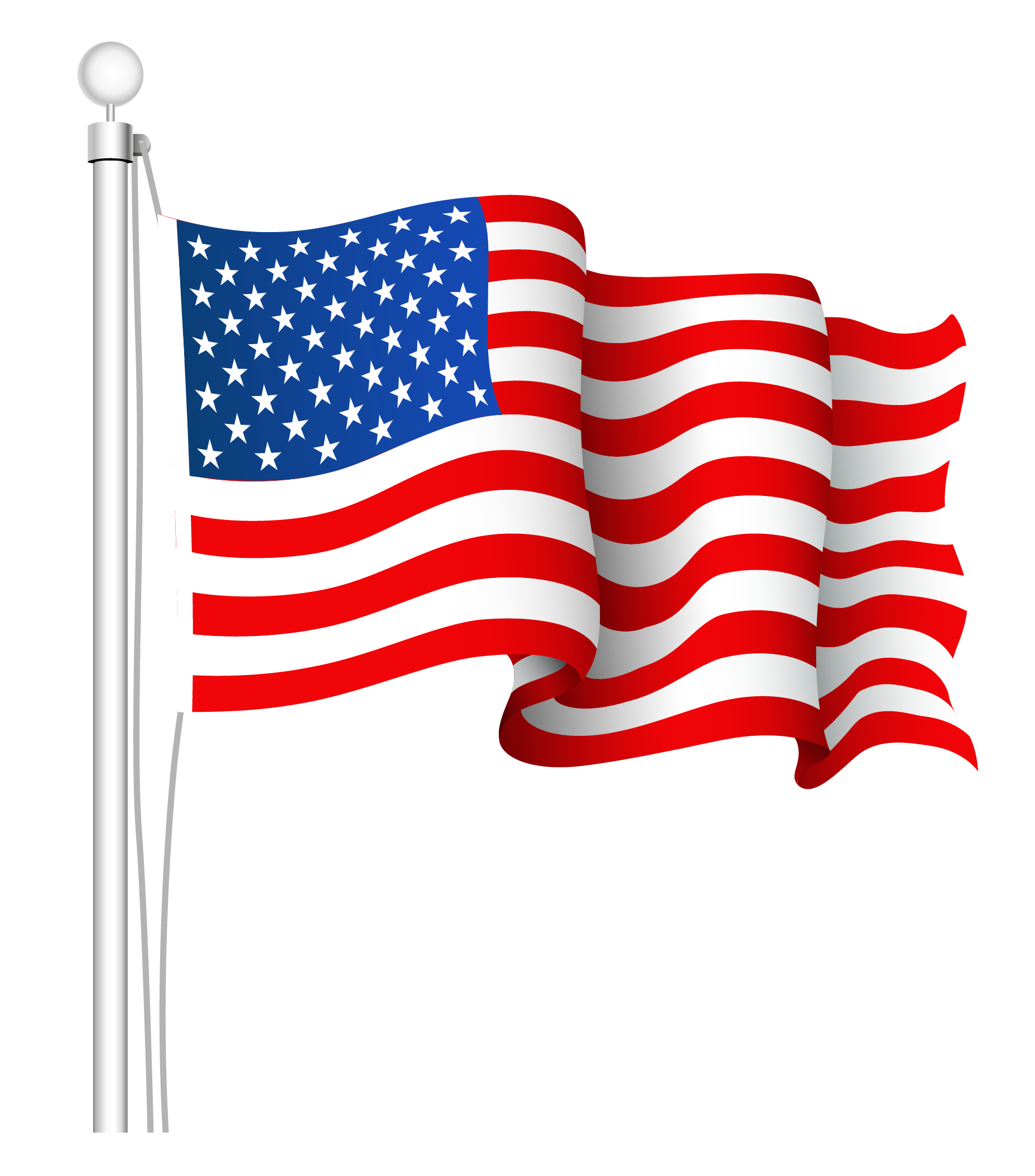 clipart stock USA flag PNG