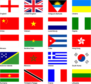 banner stock World logo ai free. Vector flags