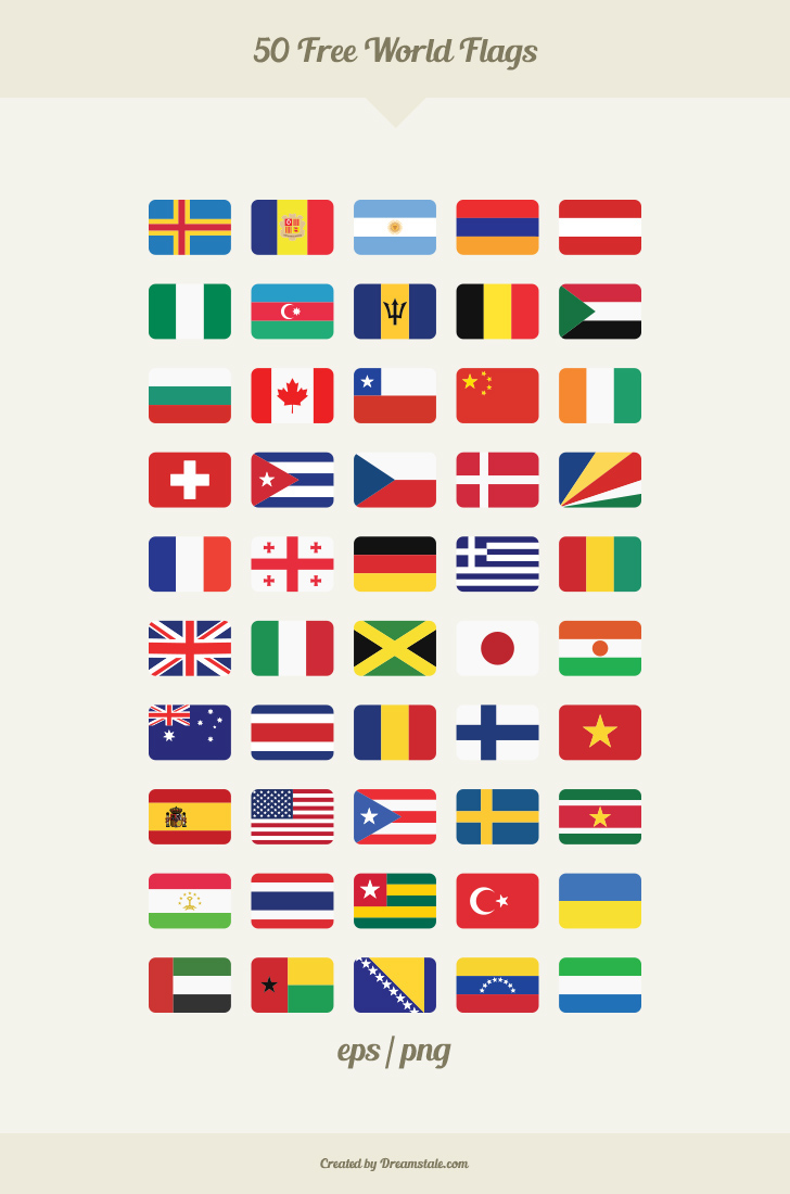 clipart free World freebie on behance. Vector flags