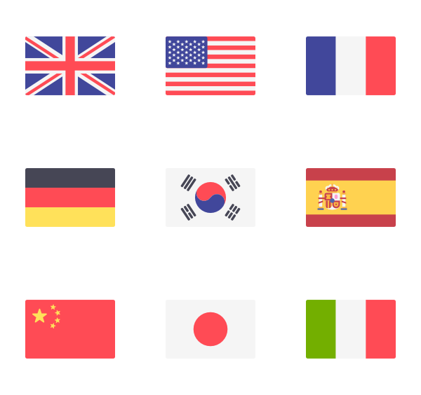 freeuse Svg sprites simple.  flag icon packs