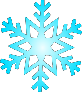 clip black and white stock Blue Snow Flake Clip Art