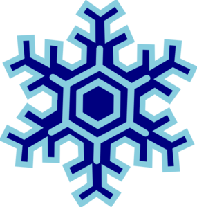 vector library January Snowflake Clipart
