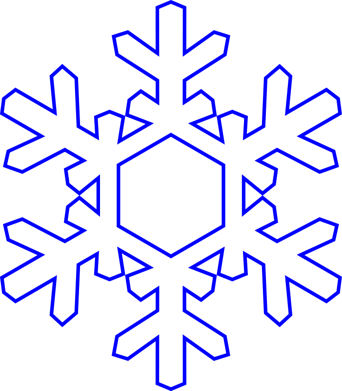 clipart freeuse stock Free ablony pinterest clip. Flake clipart simple snowflake