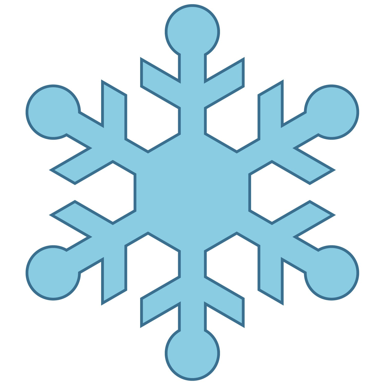 vector library Flake clipart simple snowflake.  snow clipartlook