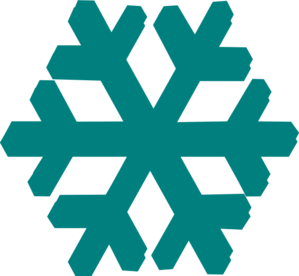 clipart freeuse Teal Snow Flake Clip Art at Clker
