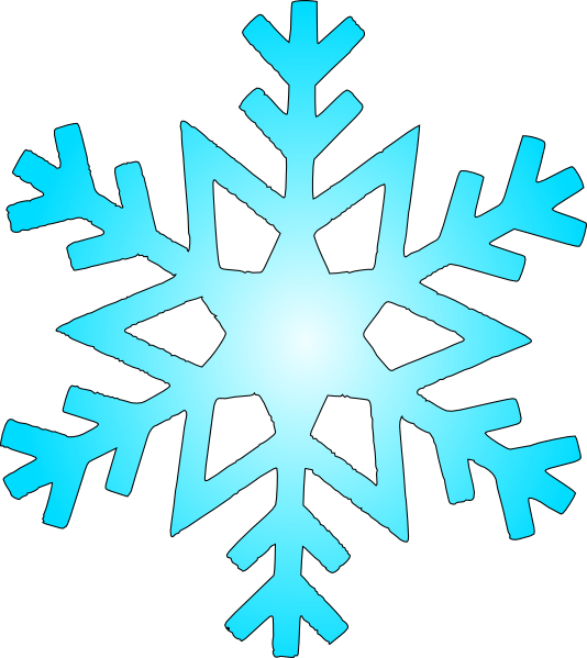 graphic download Flake clipart. Blue snow clip art