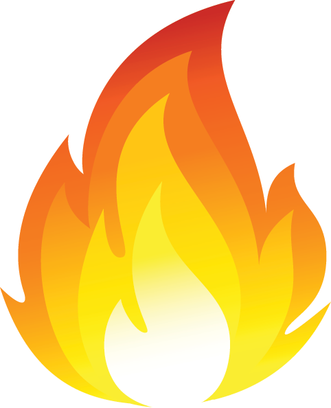 graphic black and white library Flames look at clip. Flame clipart.