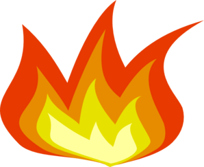 transparent Flame clipart. Small .