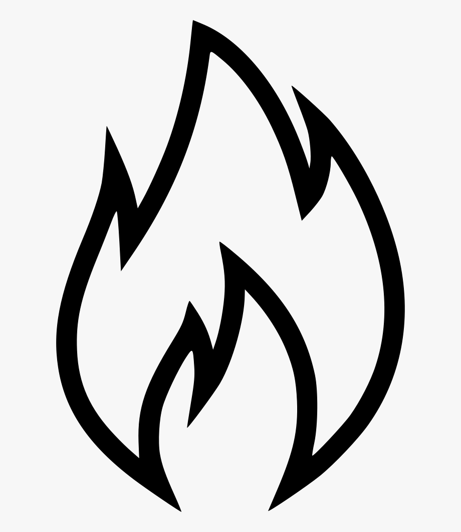clip art black and white library Flames clipart black and white. Banner library flame svg.