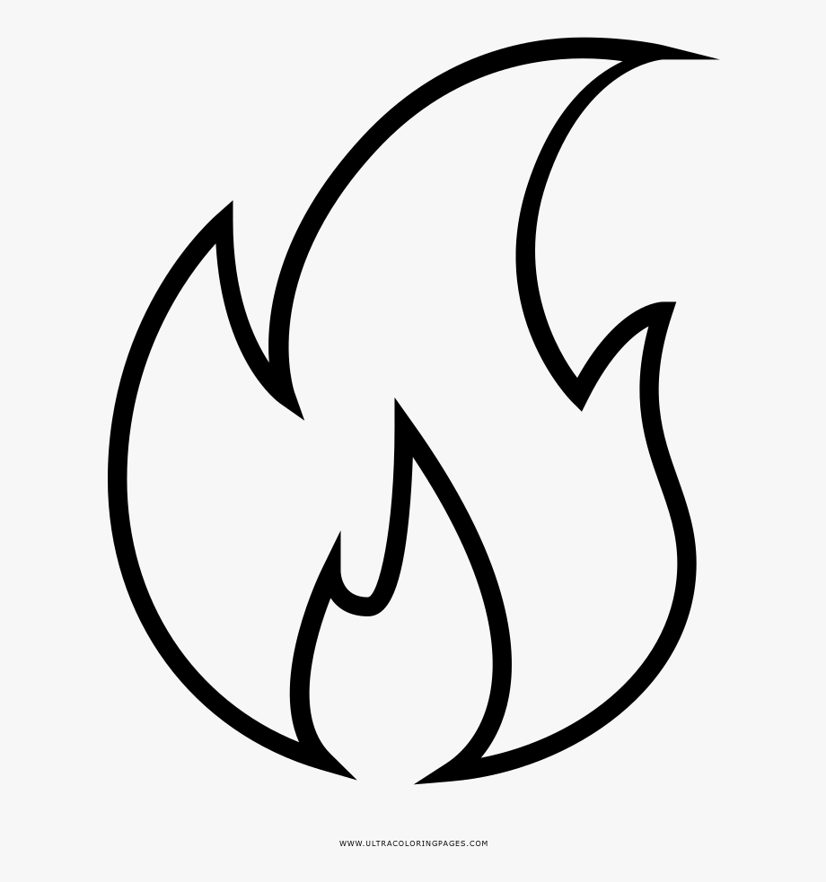 png library download Flame fire free . Flames clipart black and white.