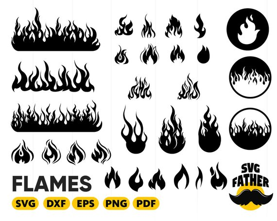 image library stock Flames svg. Fire flame calgary .