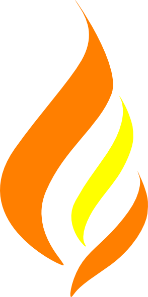 vector freeuse Yellow Flame Logo Clip Art at Clker