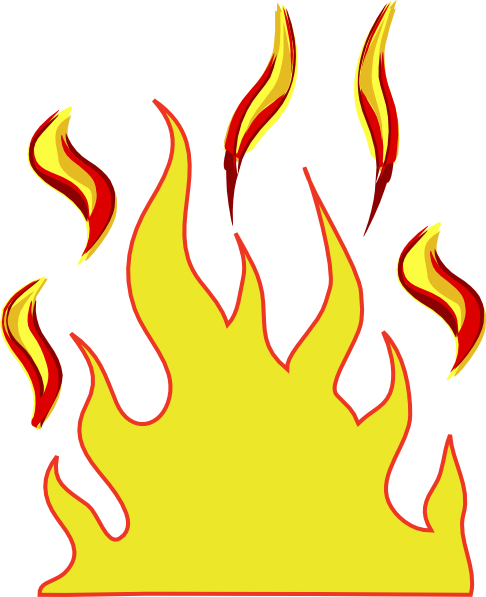 jpg free download Log on fire free. Flames clipart