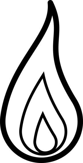 graphic free library Flames clipart black and white. Fire panda free .