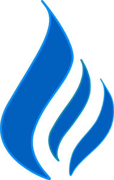 svg free library Blue Flame Solid Color Contur Clip Art at Clker