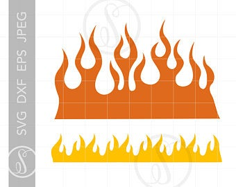 vector freeuse library Etsy . Flames svg.
